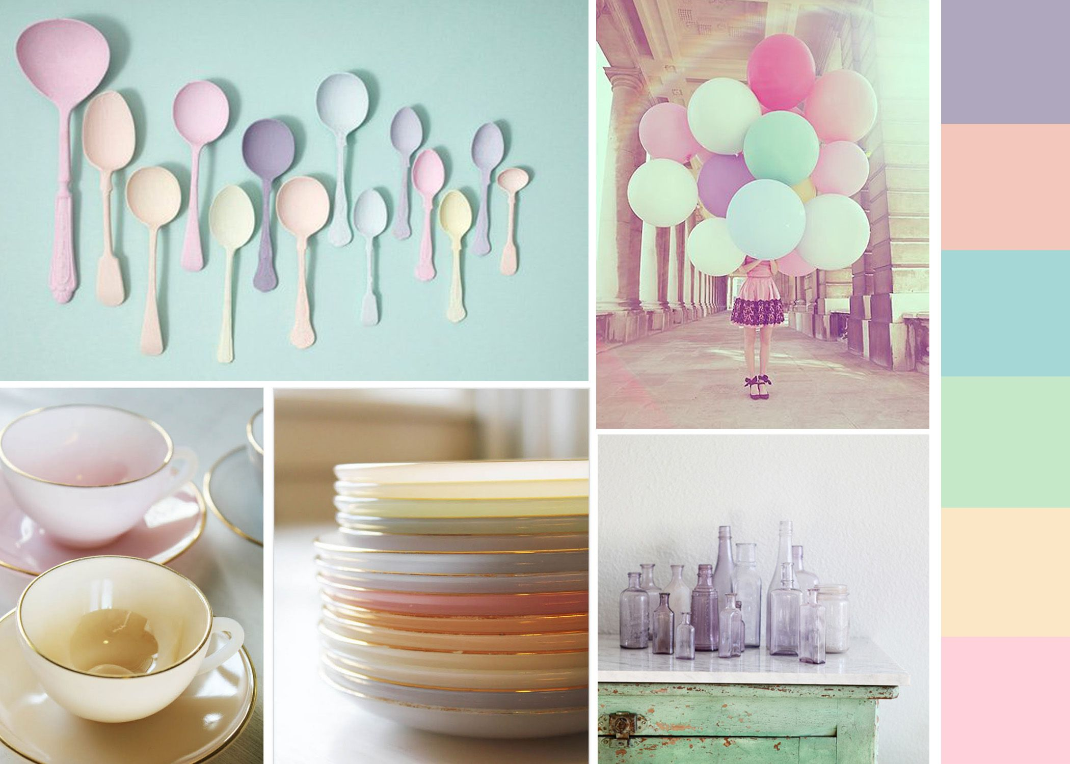 Wall Art Pastel Colours : Candy coloured shades and pastel home decorations