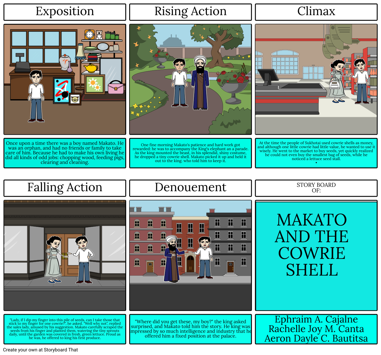 Makato and the cowrie shell storyboard by rchllcnt ticket makato and the cowrie shell storyboard by rchllcnt publicscrutiny Image collections