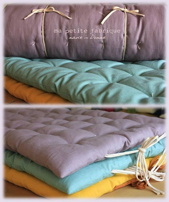 quilted floor futon padding soft washed linen cushion en 2019 baby futons pinterest. Black Bedroom Furniture Sets. Home Design Ideas