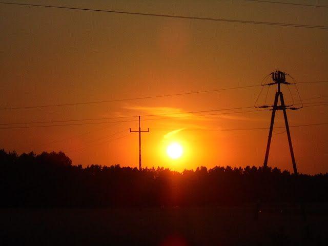 Zachód słońca, Polska