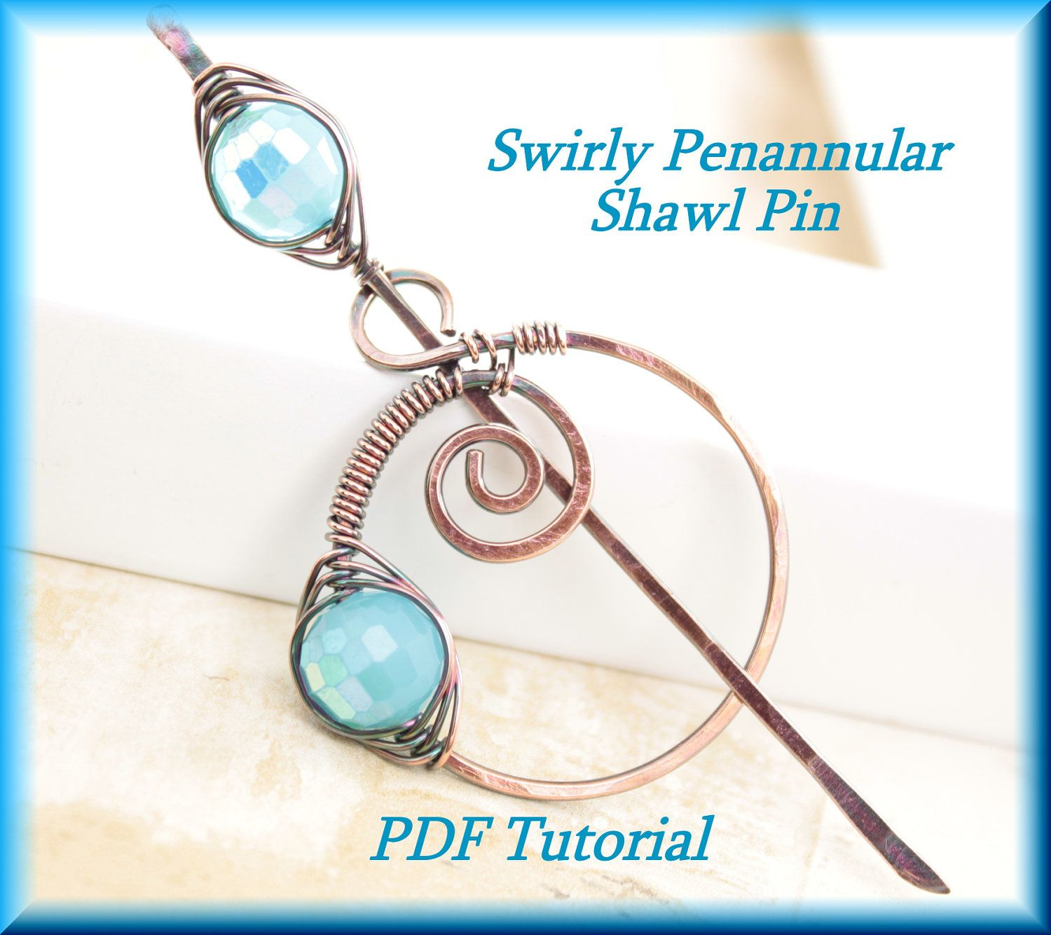 Swirly Penannular Metal Shawl Pin with a Stick PDF by IngoDesign ...