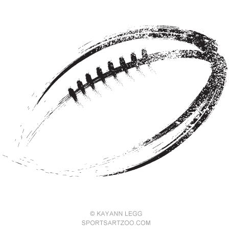 Grunge Streak Football Sportsartzoo Free Vector Illustration Grunge Football Illustration