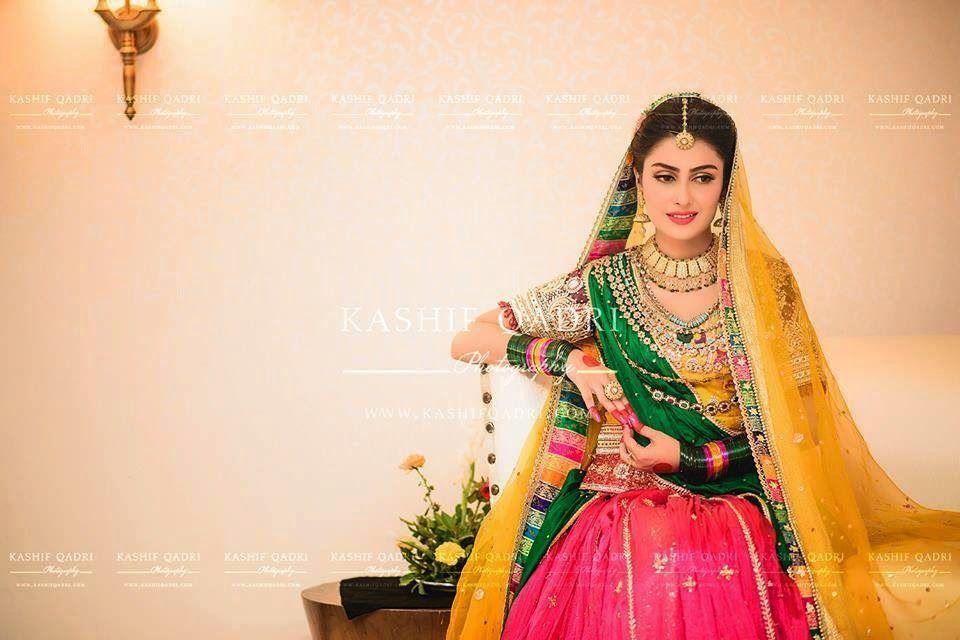 Mehndi Dress With Hijab : Ayeza khan in awesome mehndi dress the concepts of