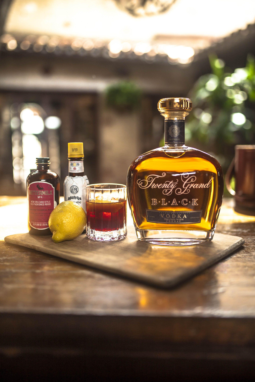 Twenty Grand Black Vodka Whiskey Bottle Tasting