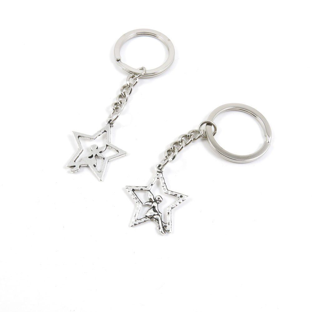 1 Pieces Keychain Door Car Key Chain Tags Keyring Ring Chain Keychain  Supplies Antique Silver Tone f9bcdb6b1a