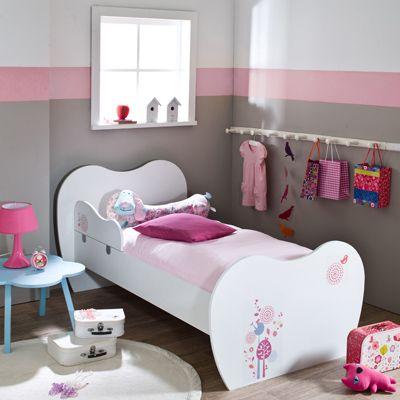Petit lit FLORAL 70 x 160 avec barrière de sécurité dès 2 ans - 3 ...