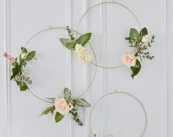 Etsy Your Place To Buy And Sell All Things Handmade Wedding Hoop Gold Wedding Decorations Rustic Wedding Venue Decorations