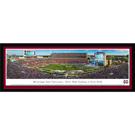 Mississippi State Bulldogs Football - Blakeway Panoramas Ncaa College Print with Select Frame and Single Mat