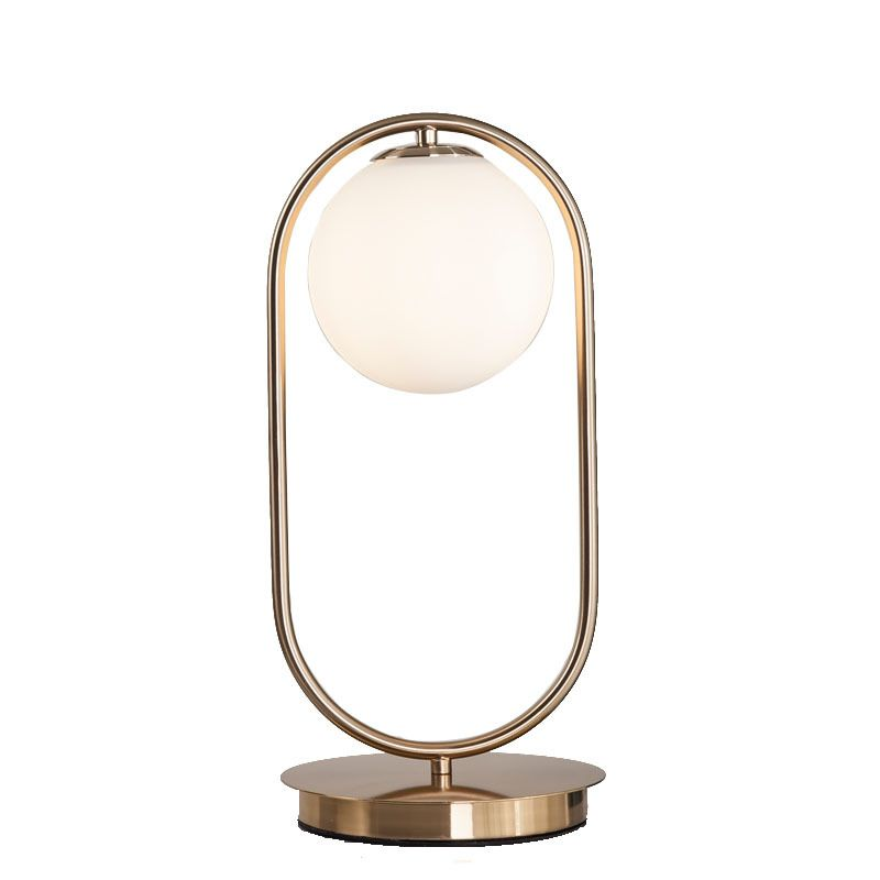Nordic Simple Table Lamp Glass Round Ball Table Lamp Metal Bracket Light Bracket Lights Glass Table Lamp Stylish Table Lamps