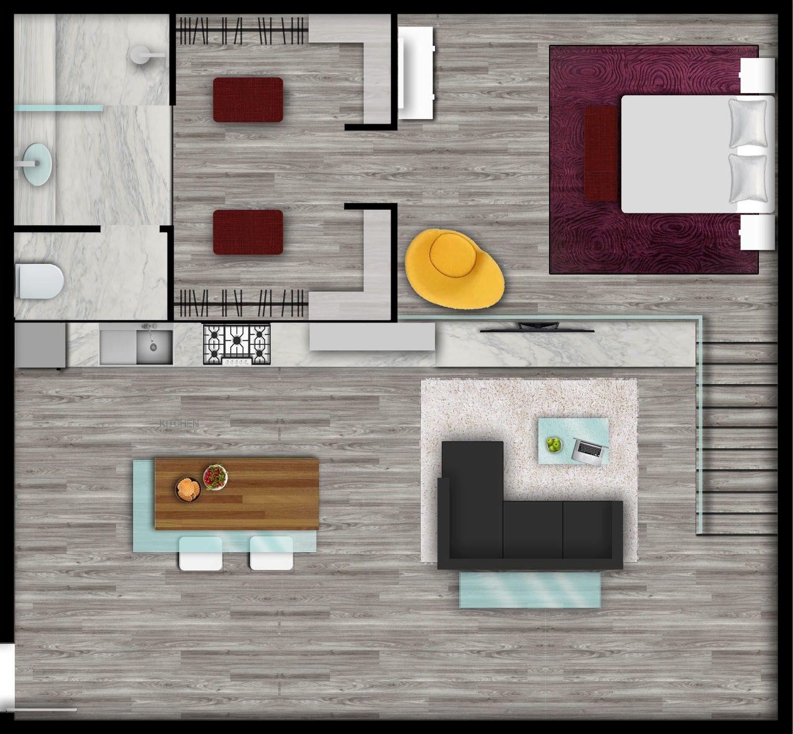 Urban Style Loft Floor Plan Rendered By E Render Loft Floor Plans Rendered Floor Plan Floor Plans