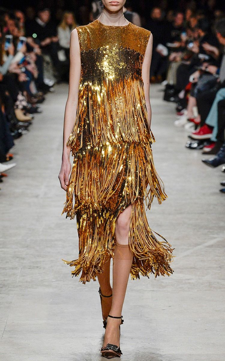 Sleeveless Sequin Fringe Dress by Rochas | M'O Boutique in ...