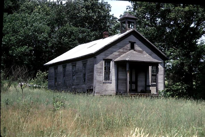 Old One Room School house was along route 110 in Indiana ... Old One Room School Building
