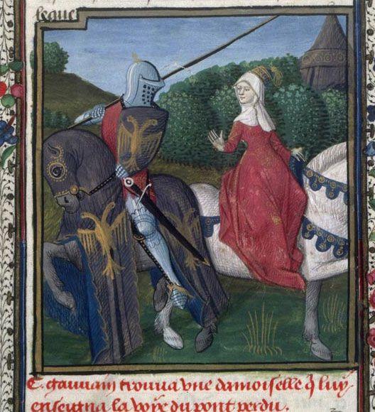 Vers 1475 centre de la france ahun roman de - Lancelot chevalier de la table ronde ...