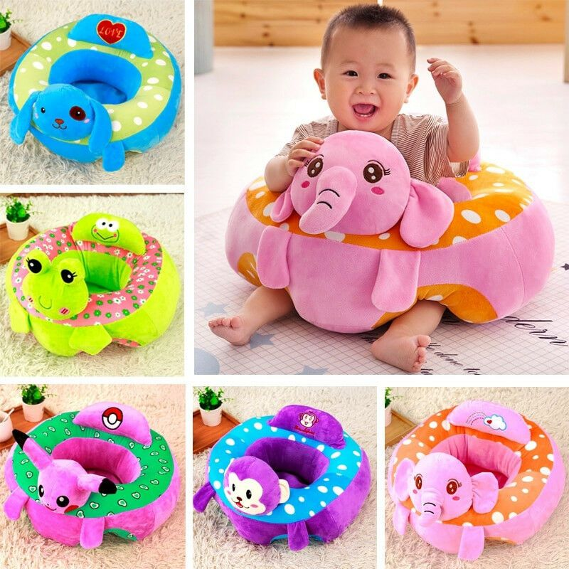 Peacock Adorable Peacock Children Seat Sofa Baby Snuggle Sofa Plush Toy for Kids Reading Relaxing