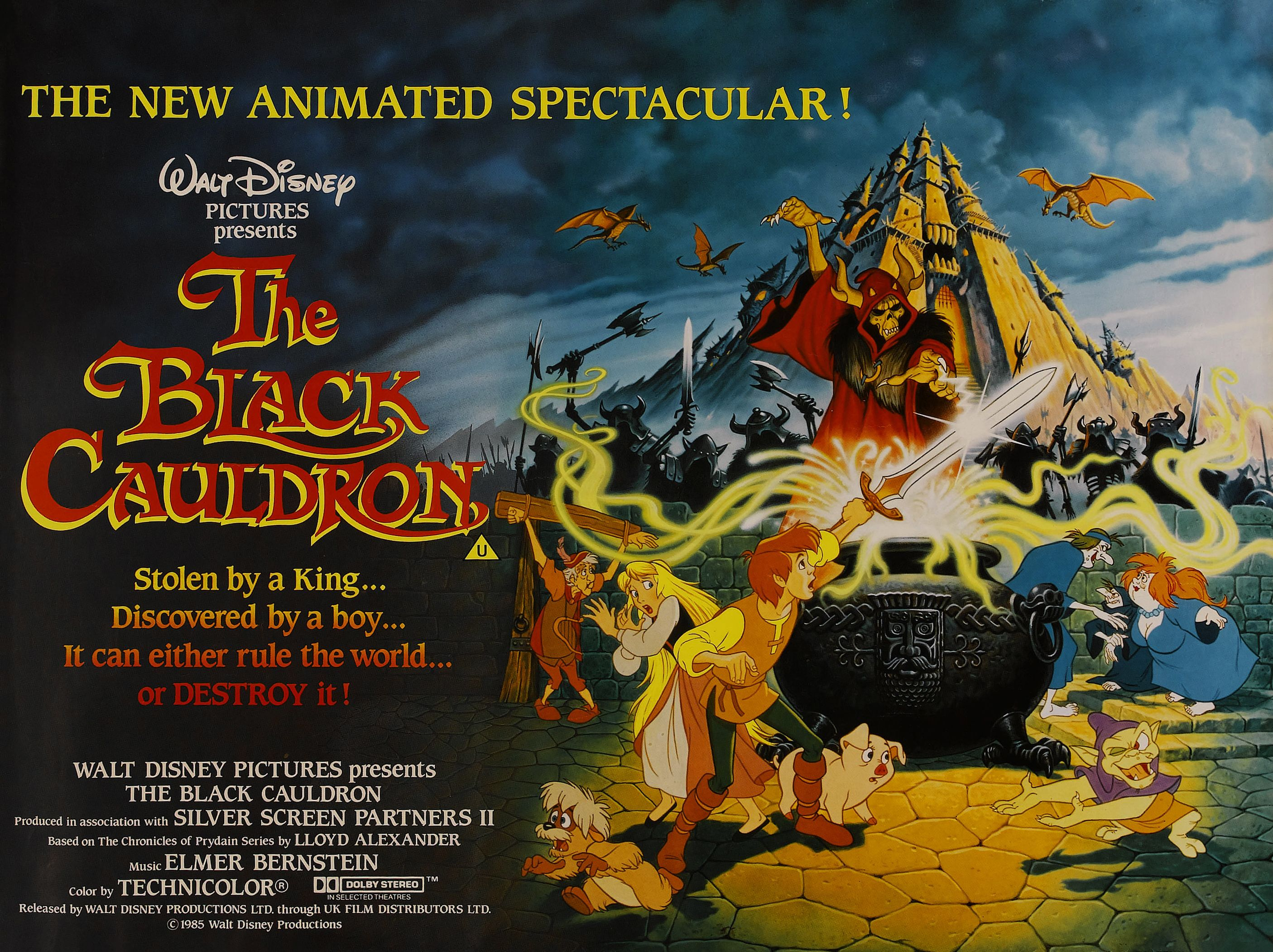The Black Cauldron (1985) British Quad poster (Restoration ...