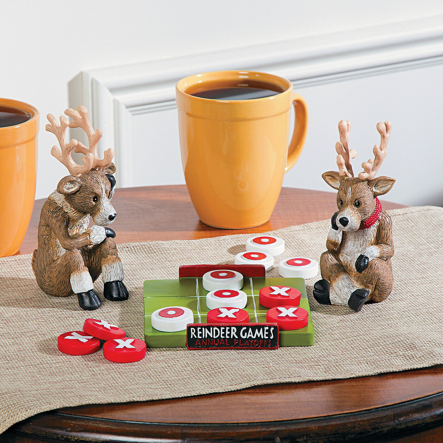 Reindeer Games Checkers Christmas Decoration