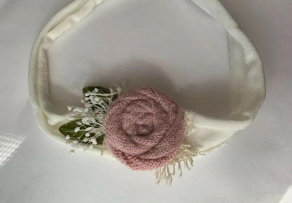 Newborn Photography Props Flower Headband Baby Girls Handmade Tieback Headwear