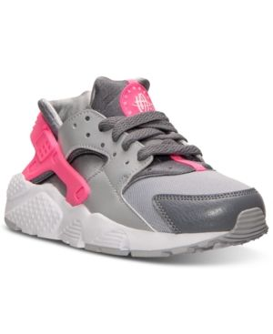 1e701f5d74 Nike Big Girls' Huarache Run Running Sneakers from Finish Line - Black 4.5
