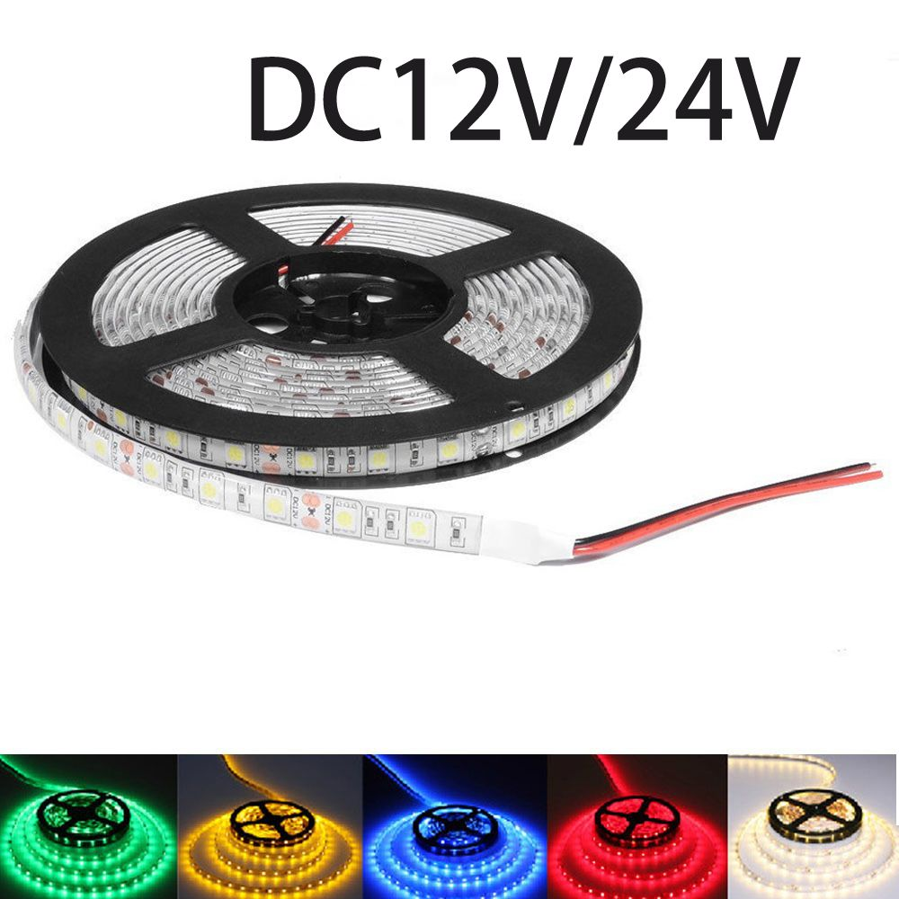 Dc12v Dc24v Led Light Strip Smd 5050 Dc 12 V 60led M Led Eclairage Flexible Led Ruban Etanche Diode Bande Led Led Strip Lighting Rgb Led Strip Lights Blue Lamp