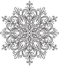 snowflake mandala tattoo mandala coloring pages. Black Bedroom Furniture Sets. Home Design Ideas