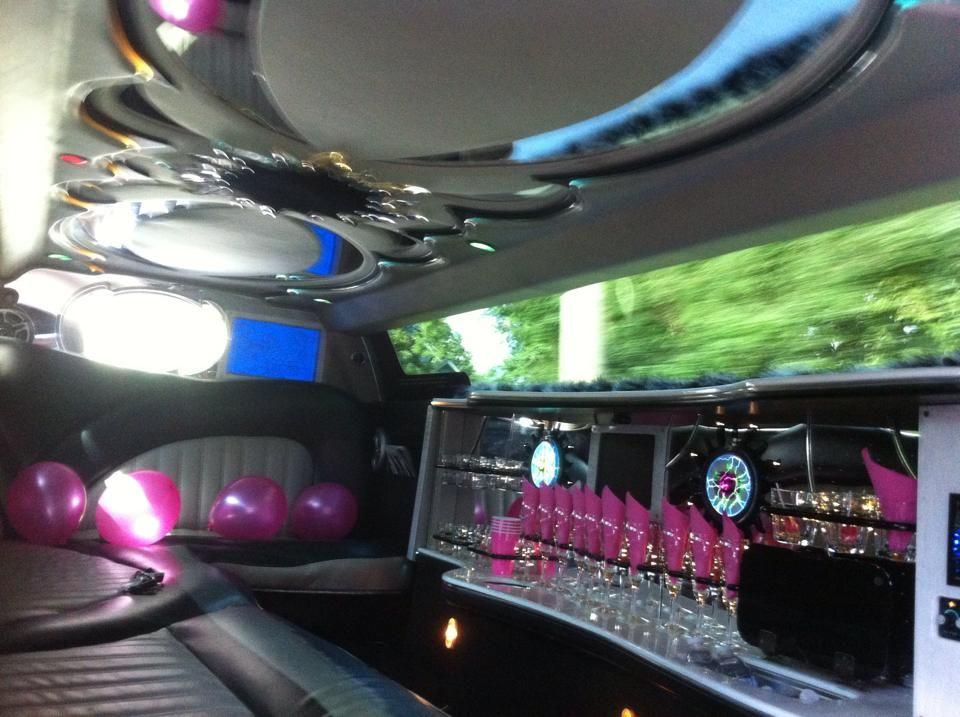 Interior Of Our 10 Passenger White Chrysler 300 Stretch Limo Call