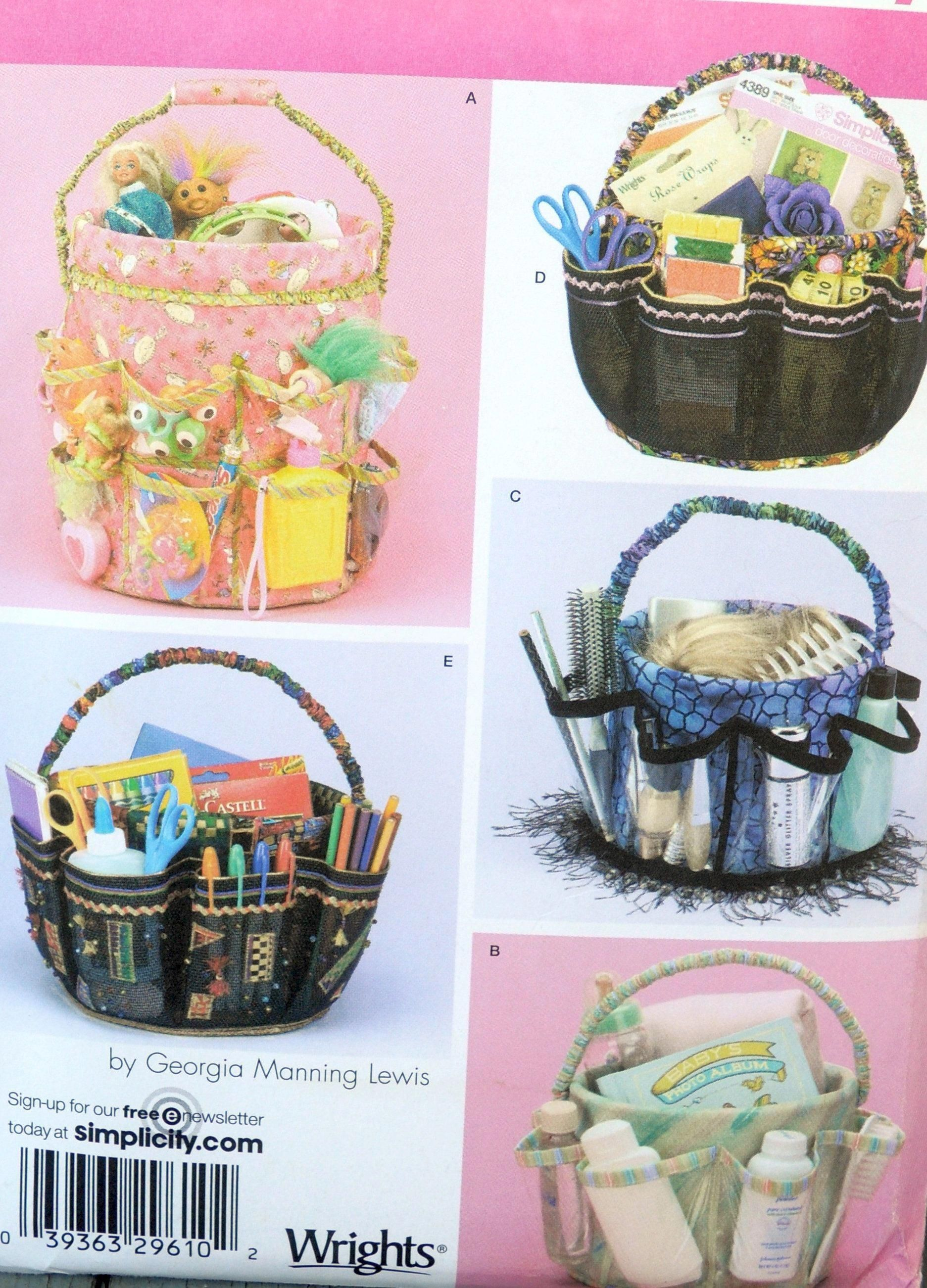 Simplicity 4232 Bucket Cover Tote, Gift Basket