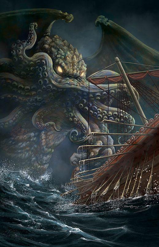 Cthulhu Starspawn by albertoguerra,cosmic creature created by H.P.Lovercraft