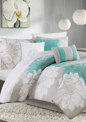 Lola Floral Duvet Cover Set With