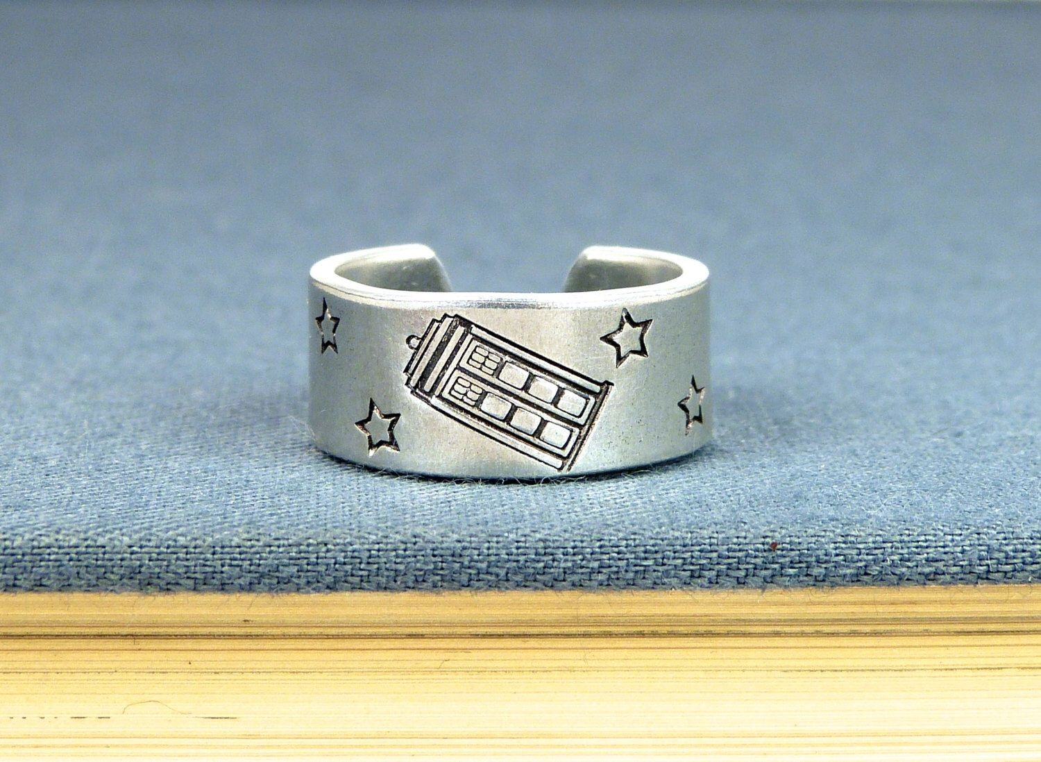 Tardis Ring - Doctor Who - Adjustable Aluminum Ring by ...