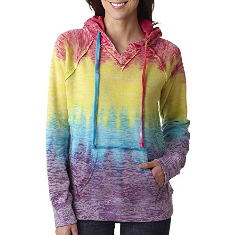 8b4c5cdd3cd MV Sport Women s Courtney Burnout Hooded Pullover Blend Fleece     Click  image for more