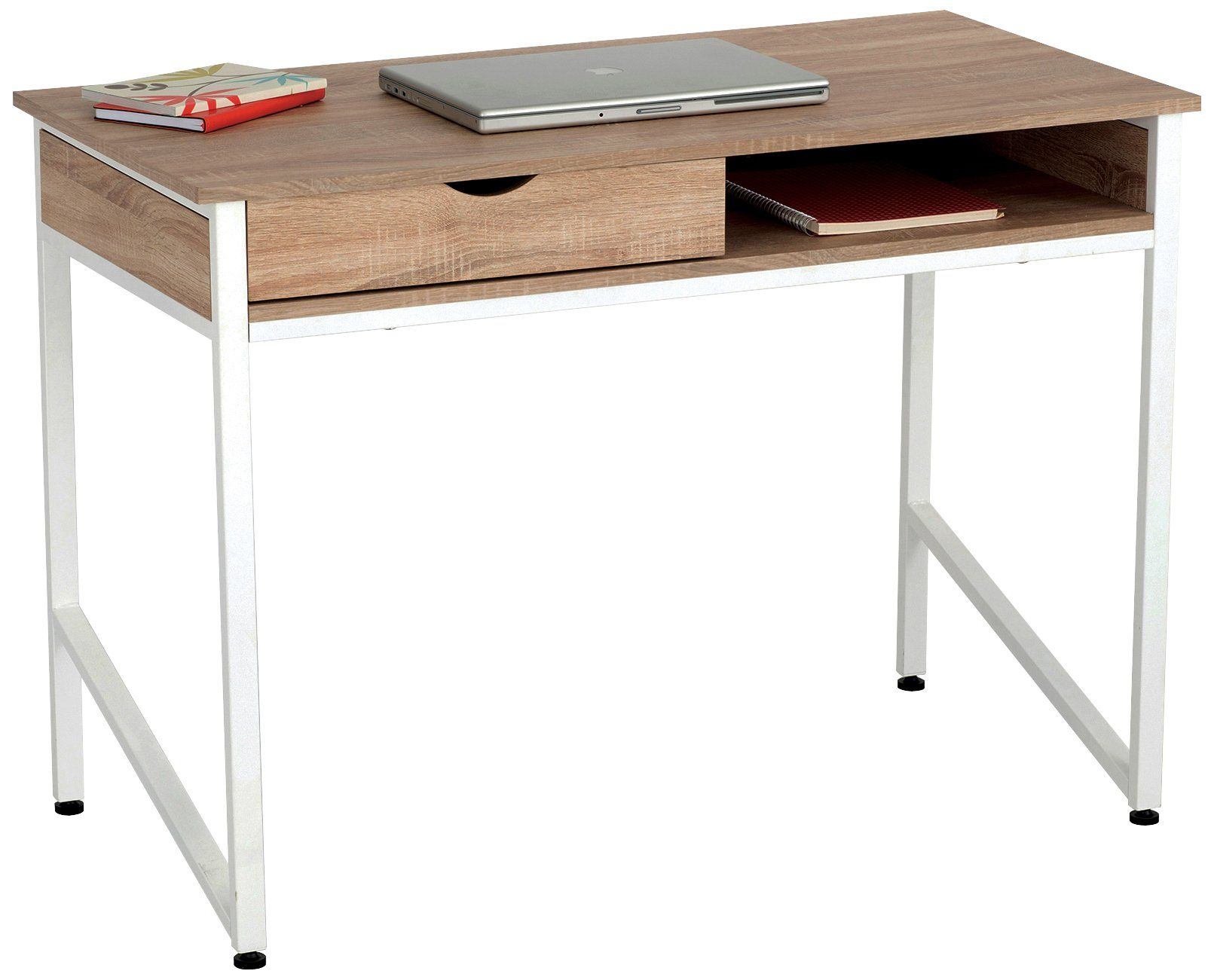 Contemporary style iversen rectangular writing desk with large