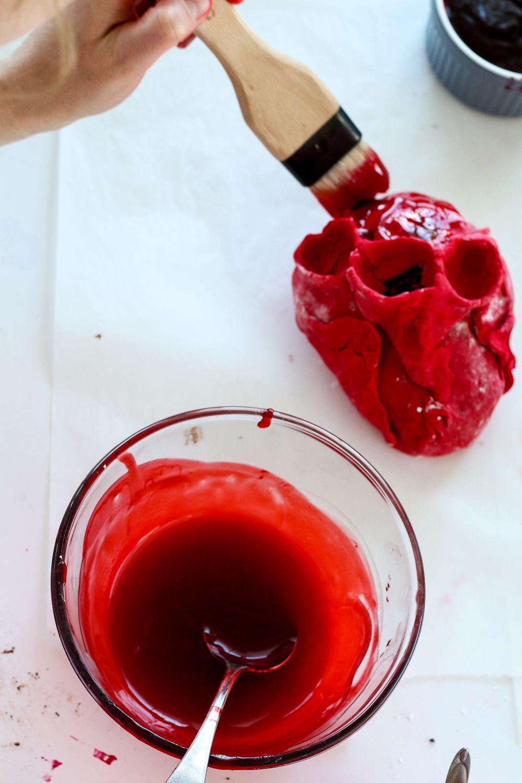 Gory Bleeding Heart Cakes The Brick Kitchen Recipe Heart Cakes Cake Wraps Cake