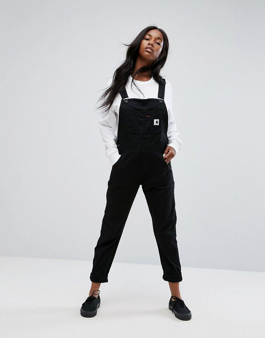 fbac781ba2 Carhartt WIP Relaxed Overalls In Stretch Canvas - Black