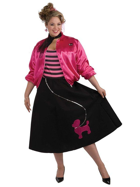 50s Plus Size Poodle Skirt Set Costume  sc 1 st  Pinterest & 50s Plus Size Poodle Skirt Set Costume | Poodle Costumes and ...