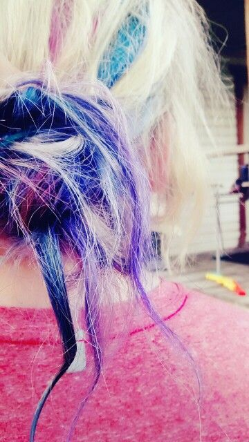 My friends hair haha she just got it dyed
