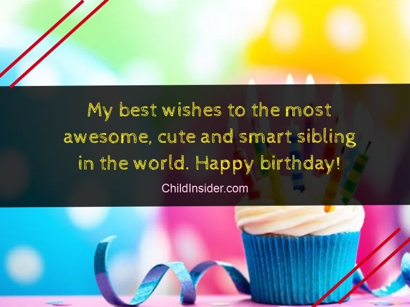 Happy Birthday Wishes For Younger Brother In English