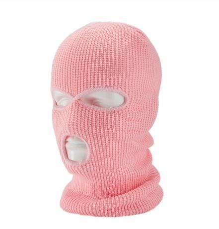 Máscara que cubre la cara completa Tres pasamontañas de 3 agujeros Sombrero de punto Táctico del ejército – N / Talla única  – Peinados