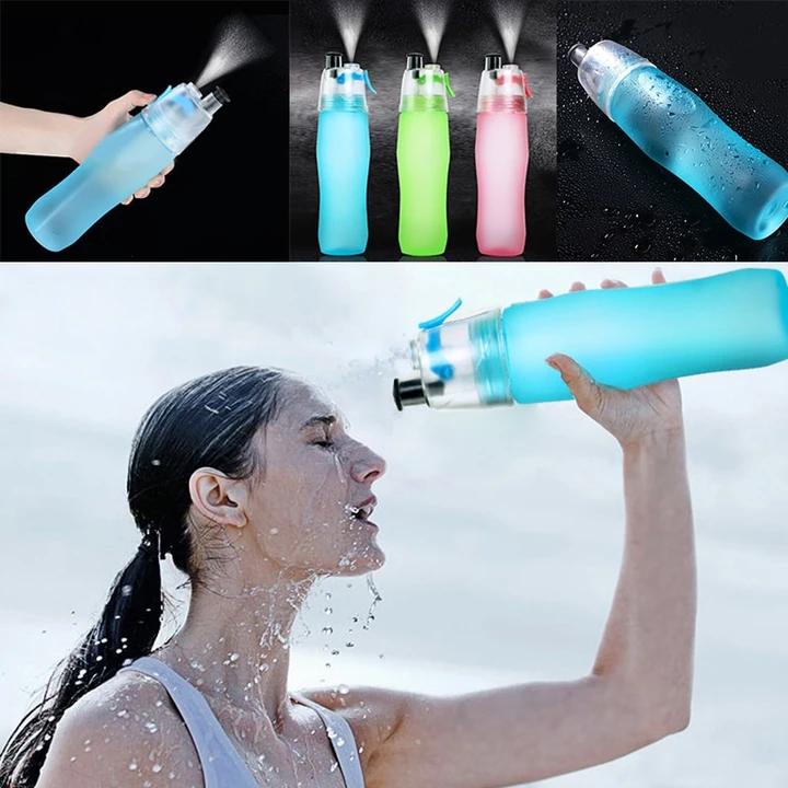 740ML frosted spray water bottle Sport water bottle