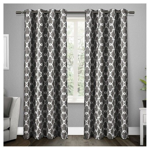 Set Of 2 Pair Gates Blackout Thermal Grommet Top Window Curtain Panels Exclusive Home