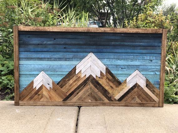 Mountain Wood Wall Art/Decor #reclaimedwoodwallart