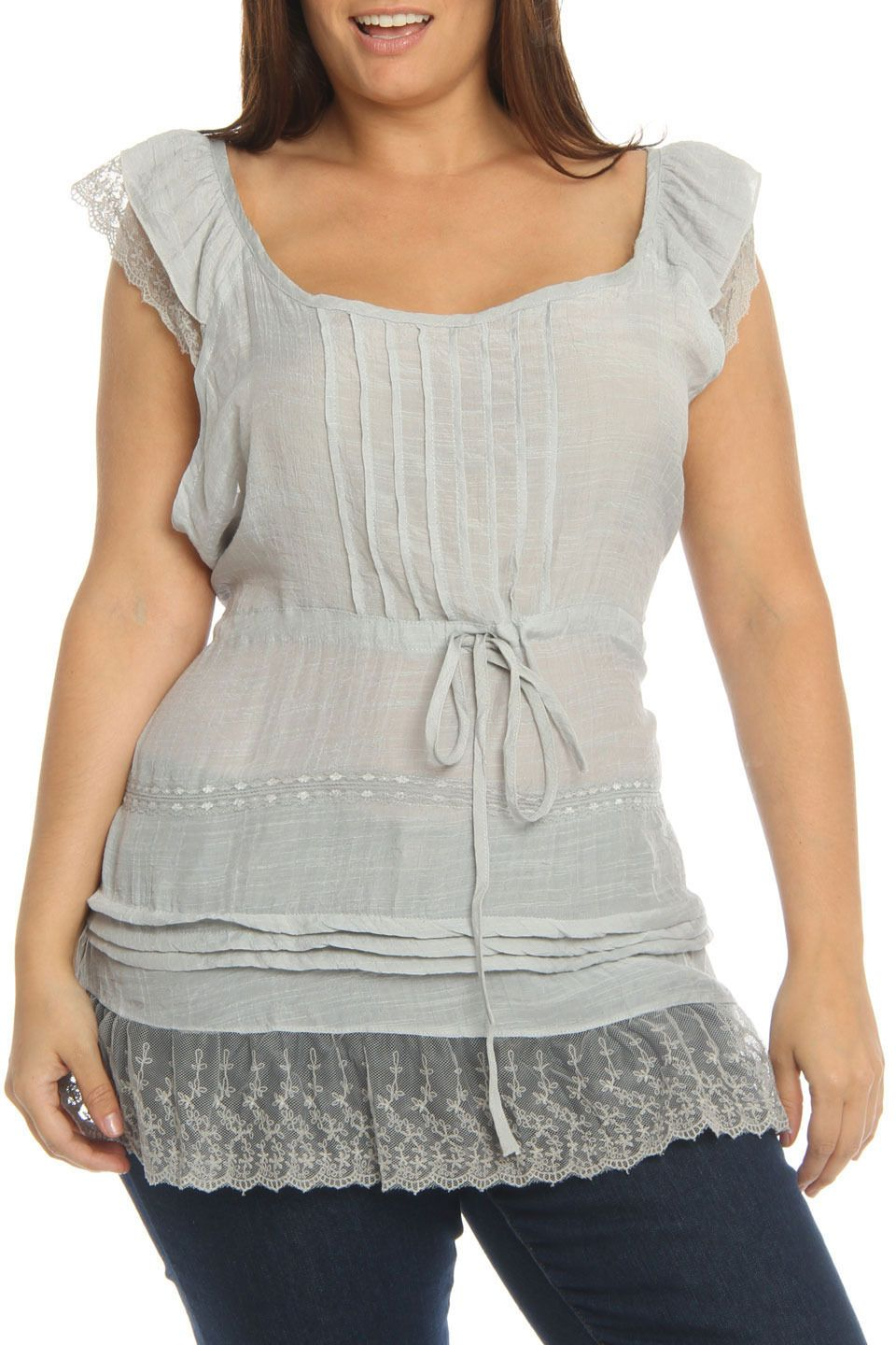 Simply Irresistible The Freshman Top in Gray - Beyond the Rack