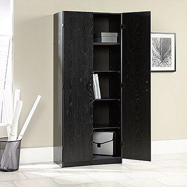 0973189cc8db Storage Cabinet in Ebony Ash | Work style, ideas & tips | Tall ...
