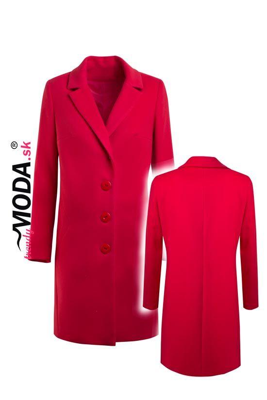 Elegantný jarný dámsky kabát – trendymoda.sk  fcb5ddba972
