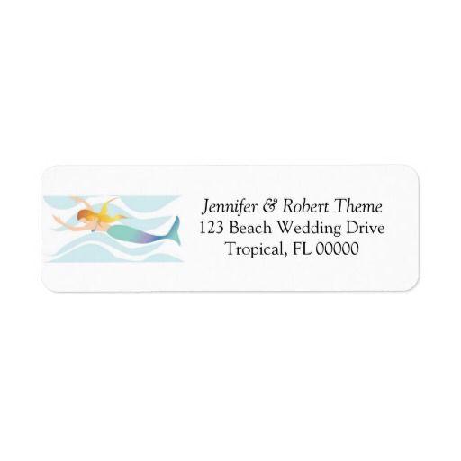 Wedding Invitation Mail Label Beach Theme Zazzlecom