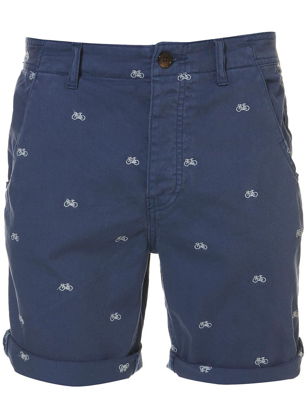 Bike Embroided Pattern Shorts #Topman