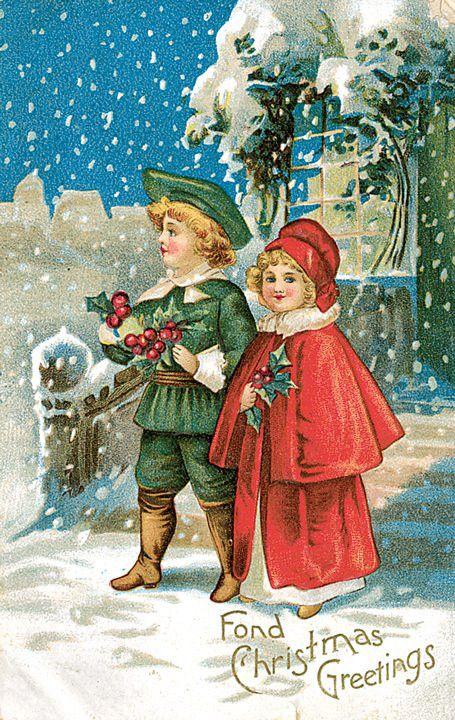 Vintage christmas greeting postcard christmas greetings vintage christmas greeting postcard m4hsunfo