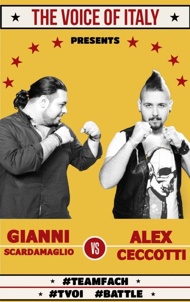 #Battle #1 - The Voice of Italy 2015 - #tvoi #GianniScardamaglio vs #AlexCeccotti