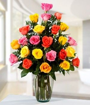 Colorful Roses Favorite Flower Arrangements Flower Shop Dubai Online Flower Shop Colorful Roses