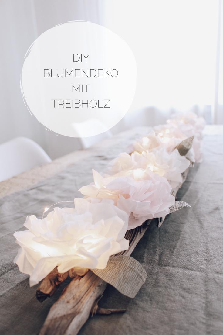 Photo of Blomsterdekorasjon av DIY med drivved