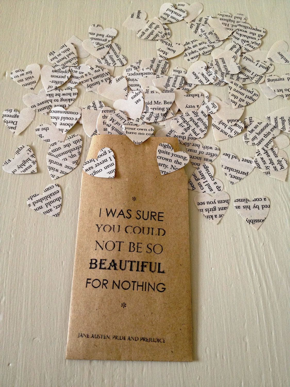 Pride and Prejudice Book Confetti for Vintage Wedding Jane Austen